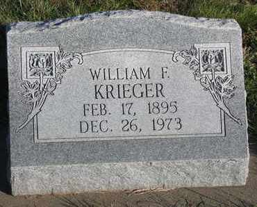 KRIEGER, WILLIAM F. - Cuming County, Nebraska   WILLIAM F. KRIEGER - Nebraska Gravestone Photos