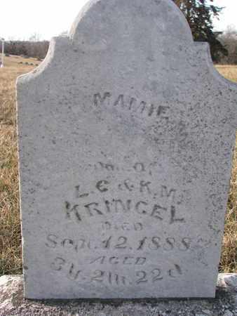 KRINGEL, MAMIE - Cuming County, Nebraska | MAMIE KRINGEL - Nebraska Gravestone Photos
