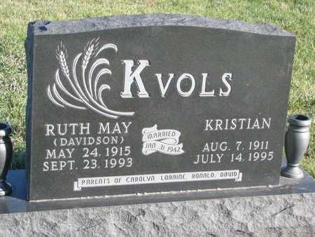 DAVIDSON KVOLS, RUTH MAY - Cuming County, Nebraska | RUTH MAY DAVIDSON KVOLS - Nebraska Gravestone Photos