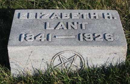 LANT, ELIZABETH - Cuming County, Nebraska | ELIZABETH LANT - Nebraska Gravestone Photos