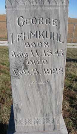 LEHMKUHL, GEORGE (CLOSEUP) - Cuming County, Nebraska | GEORGE (CLOSEUP) LEHMKUHL - Nebraska Gravestone Photos