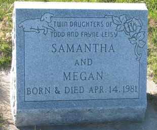 LEISY, SAMANTHA - Cuming County, Nebraska   SAMANTHA LEISY - Nebraska Gravestone Photos