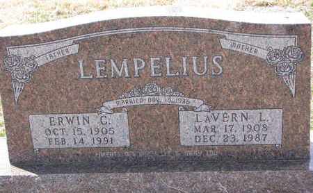 LEMPELIUS, LAVERN L. - Cuming County, Nebraska | LAVERN L. LEMPELIUS - Nebraska Gravestone Photos