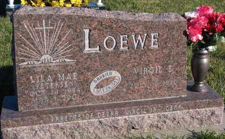LOEWE, VIRGIL E. - Cuming County, Nebraska | VIRGIL E. LOEWE - Nebraska Gravestone Photos