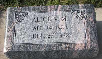 LUESHEN, ALICE V.M. - Cuming County, Nebraska   ALICE V.M. LUESHEN - Nebraska Gravestone Photos