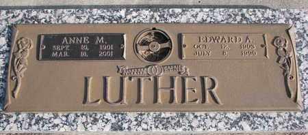 LUTHER, ANNE M. - Cuming County, Nebraska   ANNE M. LUTHER - Nebraska Gravestone Photos