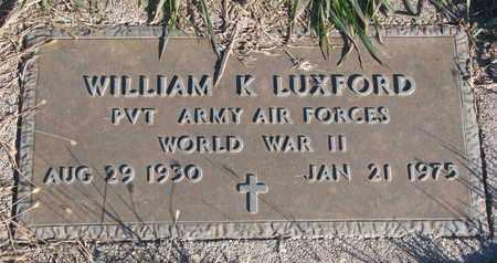 LUXFORD, WILLIAM K. - Cuming County, Nebraska | WILLIAM K. LUXFORD - Nebraska Gravestone Photos