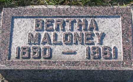 MALONEY, BERTHA - Cuming County, Nebraska | BERTHA MALONEY - Nebraska Gravestone Photos