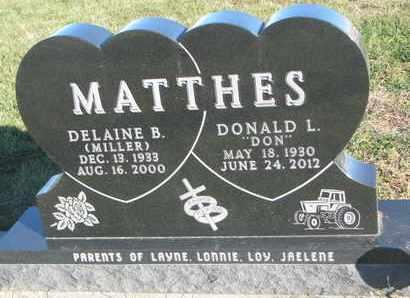 MATTHES, DELAINE B. - Cuming County, Nebraska | DELAINE B. MATTHES - Nebraska Gravestone Photos