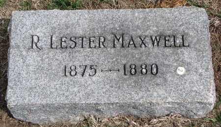 MAXWELL, R. LESTER - Cuming County, Nebraska | R. LESTER MAXWELL - Nebraska Gravestone Photos