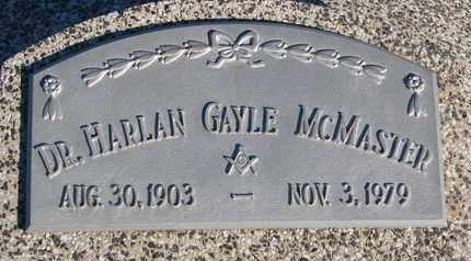 MCMASTER, HARLAN GAYLE (DR.) - Cuming County, Nebraska | HARLAN GAYLE (DR.) MCMASTER - Nebraska Gravestone Photos