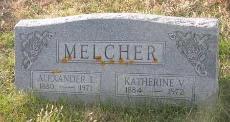 MELCHER, KATHERINE V. - Cuming County, Nebraska | KATHERINE V. MELCHER - Nebraska Gravestone Photos
