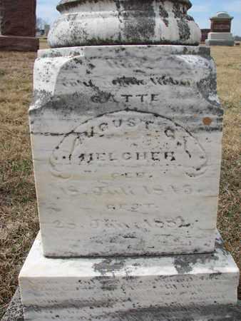 MELCHER, AUGUST (CLOSEUP) - Cuming County, Nebraska   AUGUST (CLOSEUP) MELCHER - Nebraska Gravestone Photos