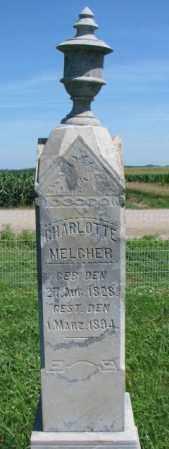 MELCHER, CHARLOTTE - Cuming County, Nebraska   CHARLOTTE MELCHER - Nebraska Gravestone Photos
