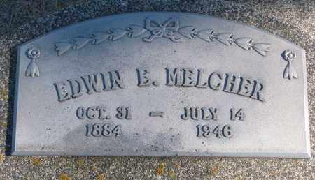MELCHER, EDWIN E. - Cuming County, Nebraska | EDWIN E. MELCHER - Nebraska Gravestone Photos
