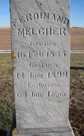 MELCHER, FERDINAND (CLOSEUP) - Cuming County, Nebraska   FERDINAND (CLOSEUP) MELCHER - Nebraska Gravestone Photos