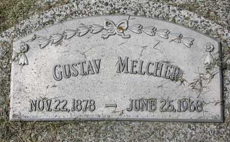 MELCHER, GUSTAV - Cuming County, Nebraska | GUSTAV MELCHER - Nebraska Gravestone Photos