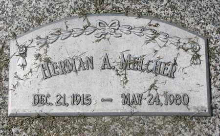 MELCHER, HERMAN A. - Cuming County, Nebraska | HERMAN A. MELCHER - Nebraska Gravestone Photos