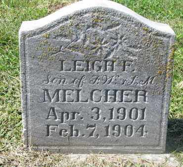 MELCHER, LEIGH F. - Cuming County, Nebraska | LEIGH F. MELCHER - Nebraska Gravestone Photos