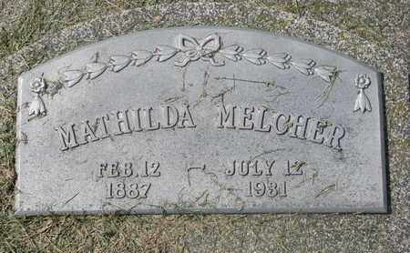MELCHER, MATHILDA #1 - Cuming County, Nebraska | MATHILDA #1 MELCHER - Nebraska Gravestone Photos