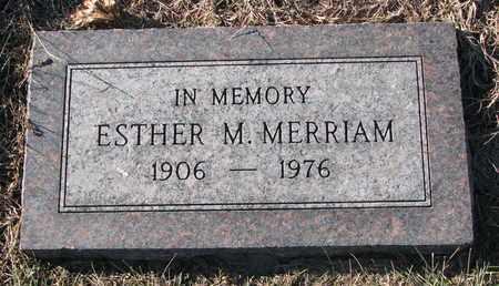 MERRIAM, ESTHER M. - Cuming County, Nebraska | ESTHER M. MERRIAM - Nebraska Gravestone Photos