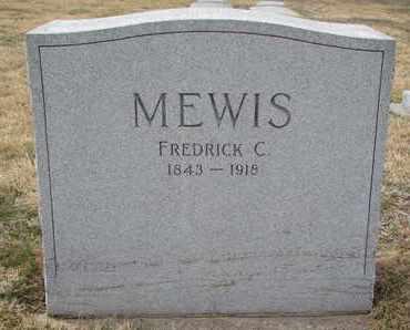 MEWIS, FREDRICK C. - Cuming County, Nebraska | FREDRICK C. MEWIS - Nebraska Gravestone Photos