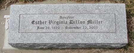 MILLER, ESTHER VIRGINIA - Cuming County, Nebraska | ESTHER VIRGINIA MILLER - Nebraska Gravestone Photos