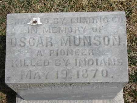 MUNSON, OSCAR (CLOSEUP) - Cuming County, Nebraska | OSCAR (CLOSEUP) MUNSON - Nebraska Gravestone Photos