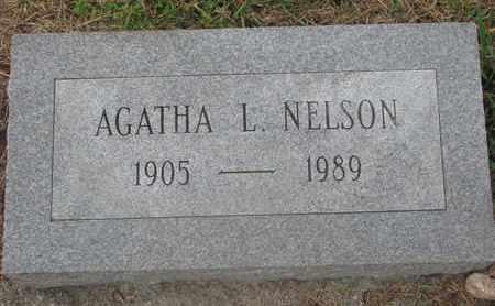 NELSON, AGATHA L. - Cuming County, Nebraska | AGATHA L. NELSON - Nebraska Gravestone Photos