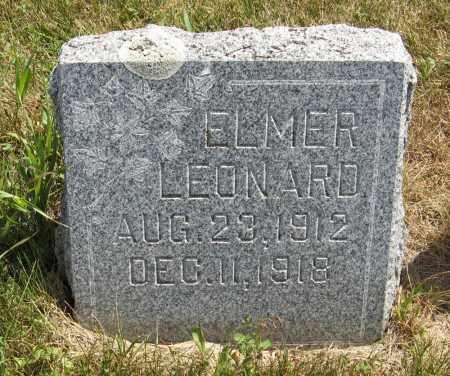 NELSON, ELMER LEONARD - Cuming County, Nebraska   ELMER LEONARD NELSON - Nebraska Gravestone Photos