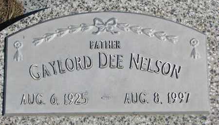 NELSON, GAYLORD DEE - Cuming County, Nebraska | GAYLORD DEE NELSON - Nebraska Gravestone Photos