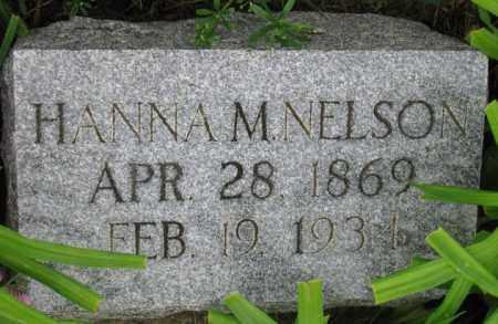 NELSON, HANNA M. - Cuming County, Nebraska | HANNA M. NELSON - Nebraska Gravestone Photos