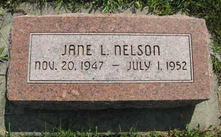 NELSON, JANE L. - Cuming County, Nebraska   JANE L. NELSON - Nebraska Gravestone Photos