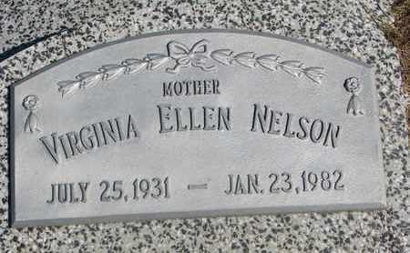 NELSON, VIRGINIA ELLEN - Cuming County, Nebraska | VIRGINIA ELLEN NELSON - Nebraska Gravestone Photos