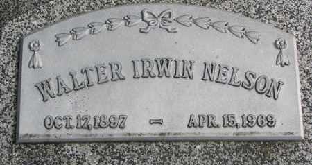 NELSON, WALTER IRWIN - Cuming County, Nebraska   WALTER IRWIN NELSON - Nebraska Gravestone Photos