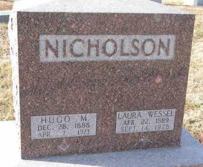 WESSEL NICHOLSON, LAURA - Cuming County, Nebraska | LAURA WESSEL NICHOLSON - Nebraska Gravestone Photos