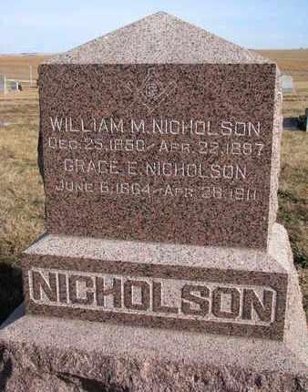 NICHOLSON, GRACE E. - Cuming County, Nebraska | GRACE E. NICHOLSON - Nebraska Gravestone Photos
