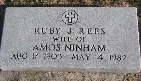 NINHAM, RUBY J. - Cuming County, Nebraska | RUBY J. NINHAM - Nebraska Gravestone Photos