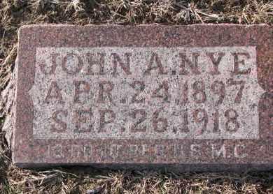 NYE, JOHN A. - Cuming County, Nebraska   JOHN A. NYE - Nebraska Gravestone Photos