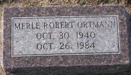 ORTMANN, MERLE ROBERT - Cuming County, Nebraska | MERLE ROBERT ORTMANN - Nebraska Gravestone Photos