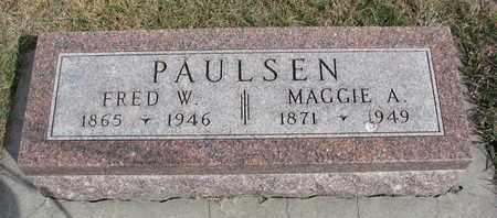 PAULSEN, FRED W. - Cuming County, Nebraska | FRED W. PAULSEN - Nebraska Gravestone Photos