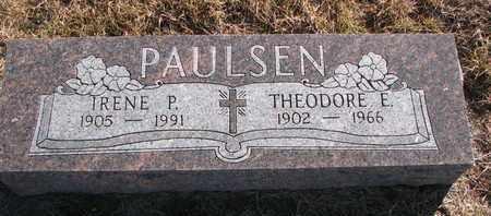 PAULSEN, THEODORE E. - Cuming County, Nebraska | THEODORE E. PAULSEN - Nebraska Gravestone Photos