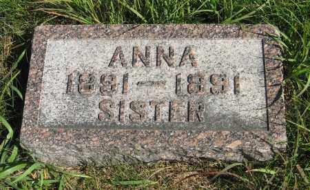 PETERS, ANNA - Cuming County, Nebraska   ANNA PETERS - Nebraska Gravestone Photos
