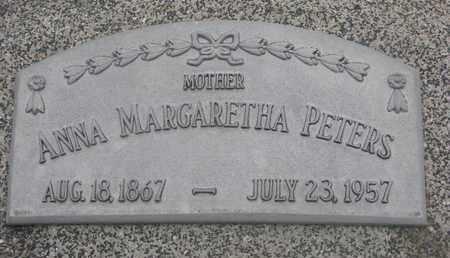 PETERS, ANNA MARGARETHA #1 - Cuming County, Nebraska | ANNA MARGARETHA #1 PETERS - Nebraska Gravestone Photos