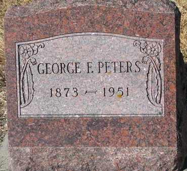 PETERS, GEORGE F. - Cuming County, Nebraska   GEORGE F. PETERS - Nebraska Gravestone Photos
