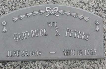 PETERS, GERTRUDE S. - Cuming County, Nebraska   GERTRUDE S. PETERS - Nebraska Gravestone Photos
