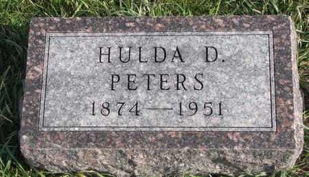 PETERS, HULDA D. - Cuming County, Nebraska | HULDA D. PETERS - Nebraska Gravestone Photos