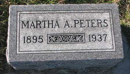 PETERS, MARTHA A. - Cuming County, Nebraska | MARTHA A. PETERS - Nebraska Gravestone Photos