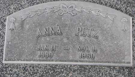 PETZ, ANNA - Cuming County, Nebraska | ANNA PETZ - Nebraska Gravestone Photos