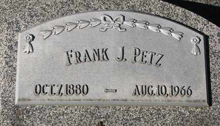 PETZ, FRANK J. - Cuming County, Nebraska | FRANK J. PETZ - Nebraska Gravestone Photos